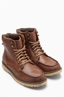 Apron Hiker Leather Boot