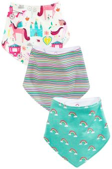 Unicorn Dribble Bibs Three Pack