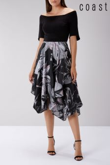 Coast Black Tilda Jacquard Dress