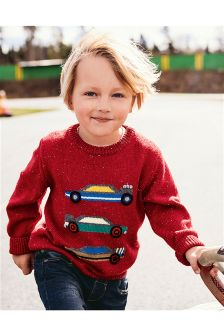 Race Car Crew Neck Jumper (3mths-6yrs)