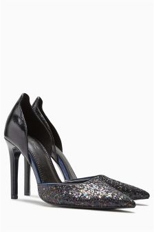 Glitter Two Part Court Shoes