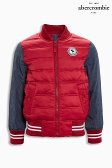 Abercrombie & Fitch Red/Navy Bomber Jacket