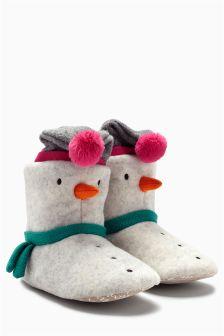 Snowman Slipper Boots