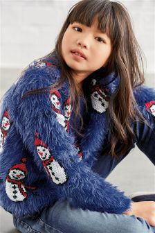 Fluffy Snowman Sweater (3-16yrs)