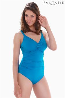 Fantasie China Blue Underwired Twist Front Control Suit