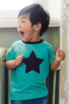 Short Sleeve Bouclé Star Top (3mths-6yrs)