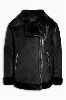 Shearling Biker Jacket (3-16yrs)