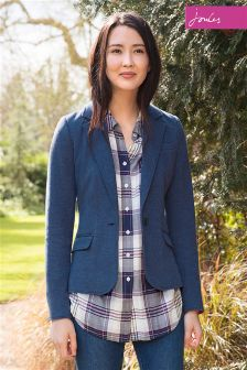 Joules Laurel Navy Multi Check Long Line Shirt