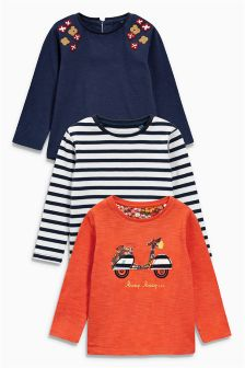 Long Sleeve Tops Three Pack (3mths-6yrs)