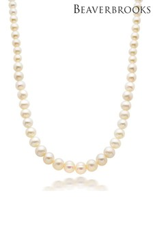 Beaverbrooks Silver Freshwater Cultured Pearl Necklace