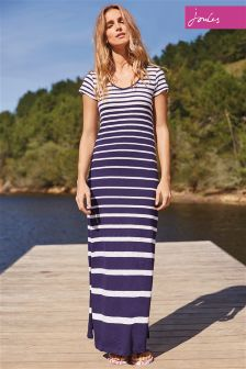 Joules French Navy Stripe Sandrine Maxi Dress