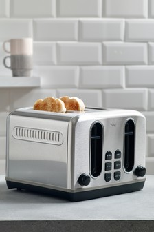 Stainless Steel 4 Slot Toaster Studio Collection By Next