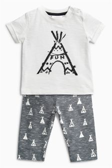 Grey/Ecru Tepee Two Piece Set (0mths-2yrs)