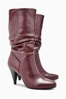 Slouch Cone Heel Boots