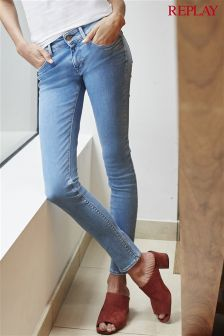Replay® Light Wash Luz Super Skinny Mid Rise Jean