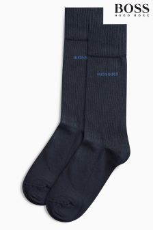 Boss Plain Socks Two Pack