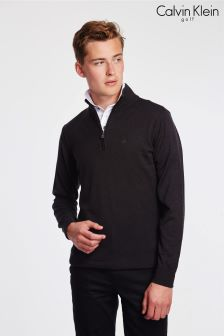 Calvin Klein Golf Charcoal Heather Half Zip Sweater