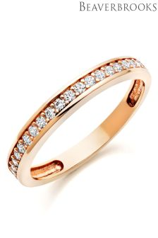 Beaverbrooks 9ct Rose Gold Cubic Zirconia Eternity Ring