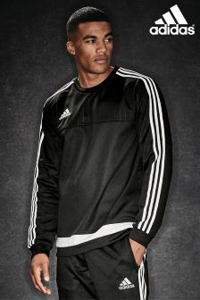 adidas Black/White Tiro 15 Sweat Top