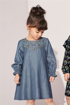 Embroidered Detail Dress (3mths-6yrs)