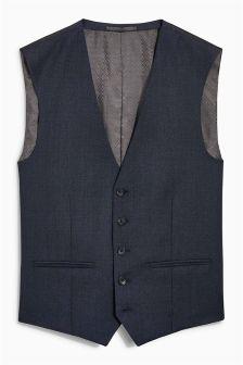 Signature Textured Suit: Waistcoat