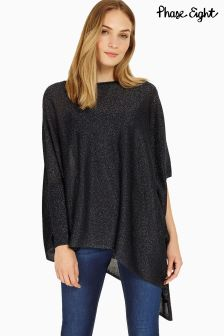 Phase Eight Navy Shimmer Nieve Knit