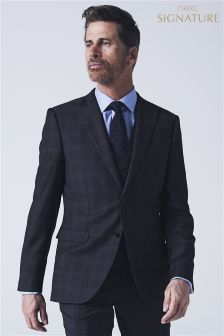 Signature Crepe Check Tailored Fit Suit