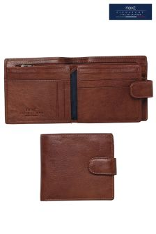 Tan Signature Italian Leather Extra Capacity Popper Wallet