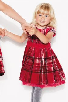 Check Velvet Dress (3mths-6yrs)