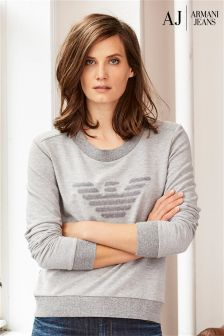 Armani Jeans Grey Logo Sweater