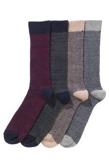Fine Stripe Socks Four Pack