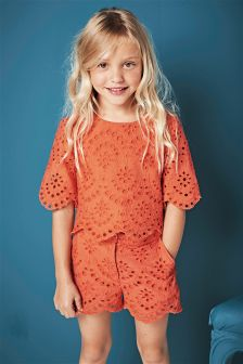 Coral Lace Two Piece Set (3-16yrs)