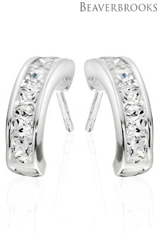 Beaverbrooks Silver Cubic Zirconia Earrings
