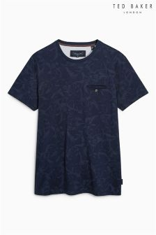 Ted Baker Navy Flowby Camo T-Shirt