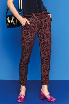 Animal Print Jacquard Trousers