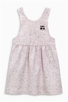 Raccoon Embroidered Pinafore (3mths-6yrs)