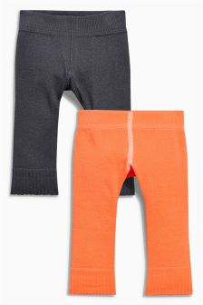 Footless Tights Two Pack (0mths-2yrs)
