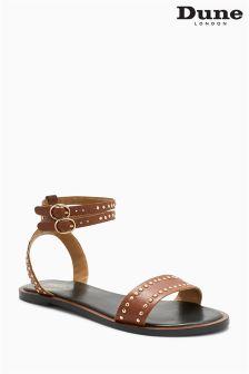 Dune Tan Lagoma Stud Ankle Strap Sandal