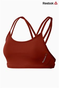 Reebok Gym Maroon Hero Strappy Sports Bra