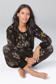 Floral Bug Print Cosy Pyjamas