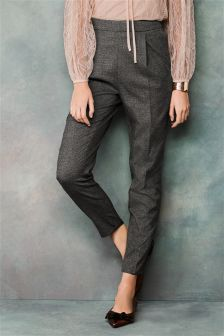 Speckled High Waist Trousers