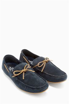 Suede Leather Lace Driver