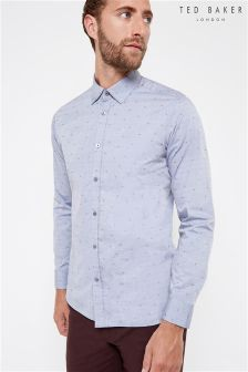 Ted Baker Blue Triangle Print Shirt