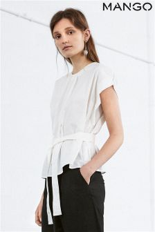 Mango White Wrap Shirt