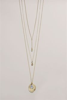 Layered Y Drop Necklace