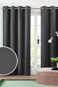 Cotton Blackout Eyelet Curtains Studio Collection By Next
