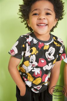 Short Sleeve All Over Print Mickey Mouse T-Shirt (3mths-6yrs)