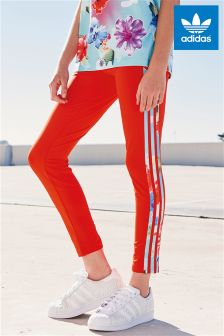 adidas Originals Red 3 Stripe Legging