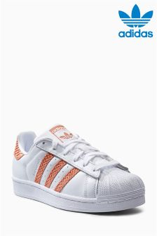 adidas Originals White/Red Superstar