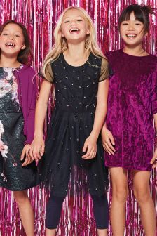 Midnight Mesh Dress And Leggings Set (3-16yrs)